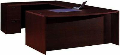 Cherryman Amber Bowfront U-shape Executive Office Desk