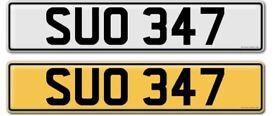 SUO 347 private plate