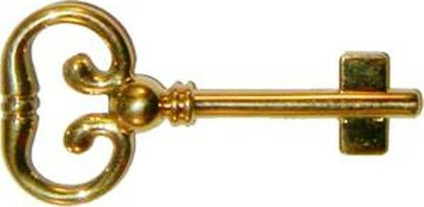 KY-8B BLANK CAST BRASS DESK LOCK KEY FOR ROLL TOP DESKS