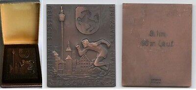 Orig.Medaille  3.Platz  Deutsche Leichathletik Meisterschaft 1965 - 60m in Box !