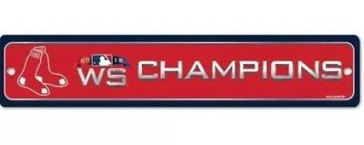 2018 Boston Red Sox World Series Champions Street Sign Boston Red Sox Street Sign