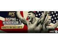 UFC MANCHESTER TICKETS OCT 8th