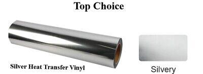 Shiny Silver Heat Transfer Vinyl 1 Yard 3 Feet Free Shipping