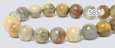 Crazy Lace Agate 6mm Round Beads (2-strands) ea. approximately 16 inches Long