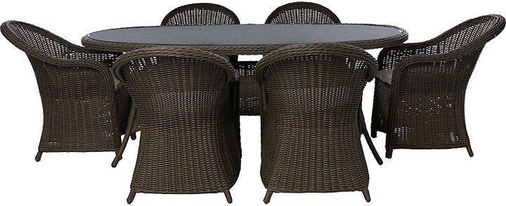 6 seater milazzo ratten garden furniture set
