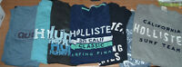 Lot de T-shirts 4 Hollister, 1 Quicksilver, 2 Hurley : Large