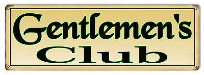 Gentlemen's Club Bar Metal Sign 6x18