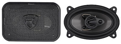 Pair Rockville Rv46 3A 4X6  3 Way Car Speakers 500 Watts 70 Watts Rms Cea Rated