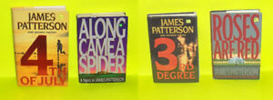 Lot of 4 James Patterson Hard Cover Books