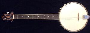 Custom 4 string tenor banjo and case