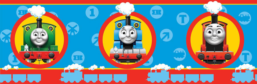 Details About New Childrens Kids Trains Thomas The Tank Engine Friends Wallpaper Border