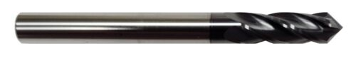 """3/8"""" 4 FLUTE 90 DEGREE CARBIDE DRILL MILL - TiALN COATED"""