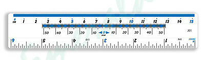 "Clear Plastic Ruler 15cm - 6"" Same Day Dispatch"
