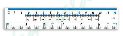 "Clear Plastic Ruler 15cm - 6"" Same Day Dispatch"