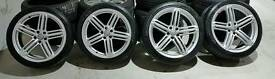 4 x Genuine AUDI RS6 alloy wheels with tyres