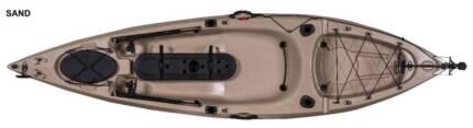 10 foot SOT Fishing Kayak with RUDDER PLUS paddle PLUS seat