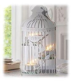 Glass Birdcage Tealight Holder