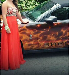 Red prom dress size 8
