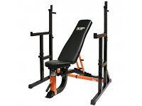 Mirafit Adjustable Weight Bench & Squat Rack. Mint condition