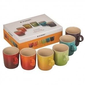 Le Creuset rainbow colour coffee mugs Cannonvale Whitsundays Area Preview