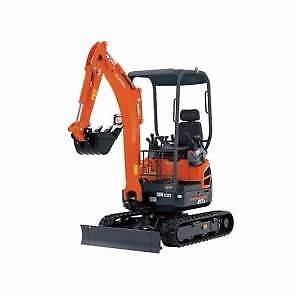 Excavator hire KUBOTA 1.7 tonnes Spring hitch $249