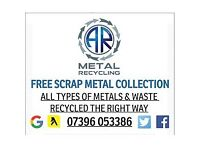 SCRAP METAL/WASTE CLEARANCE•FREE SCRAP METAL COLLECTION•RUBBISH REMOVAL•WE BUY NON-FERROUS METALS