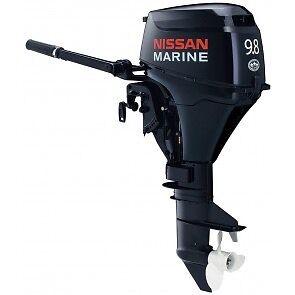 "Nissan 9.8 outboard long shaft 20"" motor"