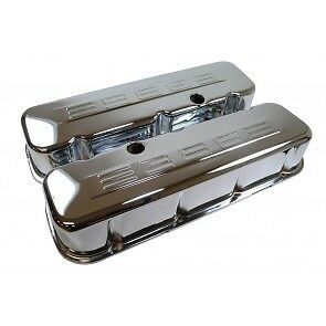 new chrome 396 bb/gm tall valve cover's