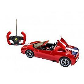 BRAND NEW official licenced Remote Control Model Cars -ferrari,bugatti,bmw i8 (silver,white)