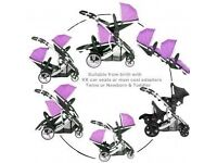 Kids duellette double buggy