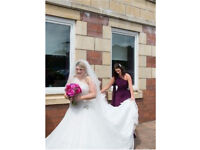 Stunning two tier, cathedral length bridal veil