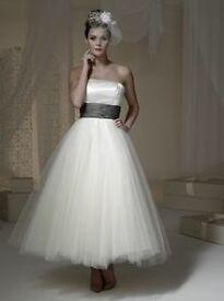Brand new tea length wedding dress size 14