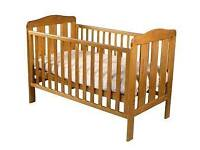 Baby cot and toddler bed in one