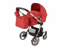 Red baby couture 2in1 pram