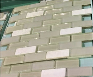Glass Travertine mosaic tile sale!!  Only $3.99 SF