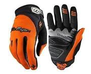 Orange Cycling Gloves
