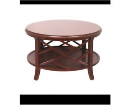 Ex display Mindy Brownes Mahogany Crossbuck coffee table rrp£406