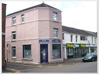 Offices with garage to let in Neath town centre