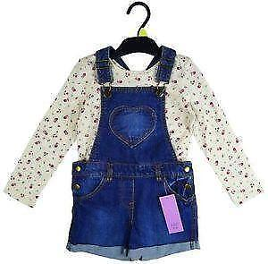 Baby & Toddler Clothing 9-12 Months Baby Girl Summer Outfit Dress And Dungarees