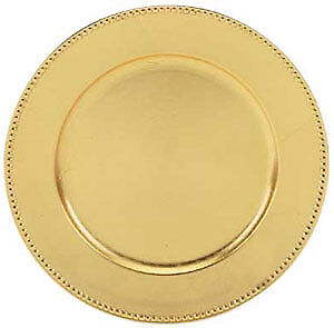 Gold and silver charger plates for sale - $1.25