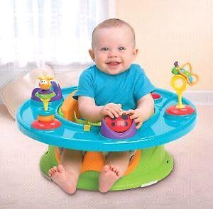 Siège d'appoint évolutif pour bébé Summer avec tablette amusante