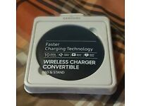 Samsung wireless charger convertible pad and stand