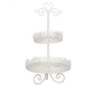Shabby Chic Wire Cake Stand With Lid