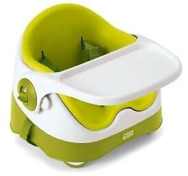 Mamas & Papas Baby Bud Booster Seat for Dining Table with Detachable Tray and Play Tray - Lime