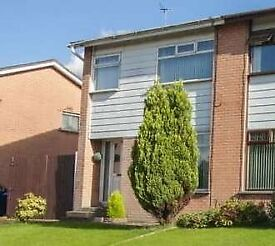 House to Rent Bangor- Semi Det, Modern 3 bed, Gas Central Heating, Garage - Available 27 December