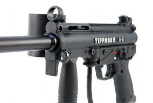 Tippmann A5 with response trigger paintball gun