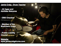 Drum Lessons/Tuition for All Ages and Abilities | DBS Checked