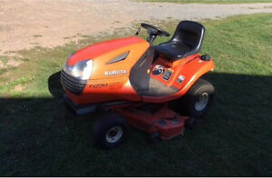 "Kubota 48"" lawn mover with snowblower attachment T1770"