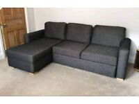 Charcoal Grey John Lewis Corner Sofa Bed.