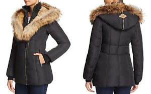 BLACK MACKAGE JACKET - AKIVA WINTER COAT WITH FUR LINED HOOD